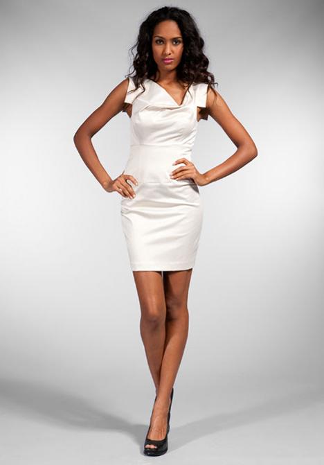 Black Halo Shimmer Jackie O Mini Dress In White Lyst