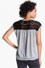 Bobeau Lace Back Top - Lyst