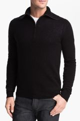 Burberry Brit Hurlingham Half Zip Cashmere Sweater