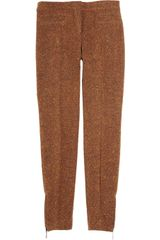 Burberry Prorsum Cropped Woolblend Tweed Pants - Lyst