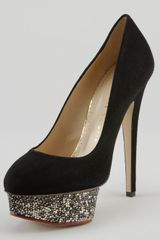 Charlotte Olympia Dolly Crystalencrusted Platform Pump - Lyst