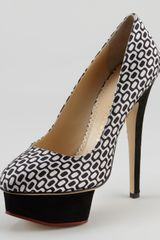 Charlotte Olympia Dolly Optic Print Pump - Lyst