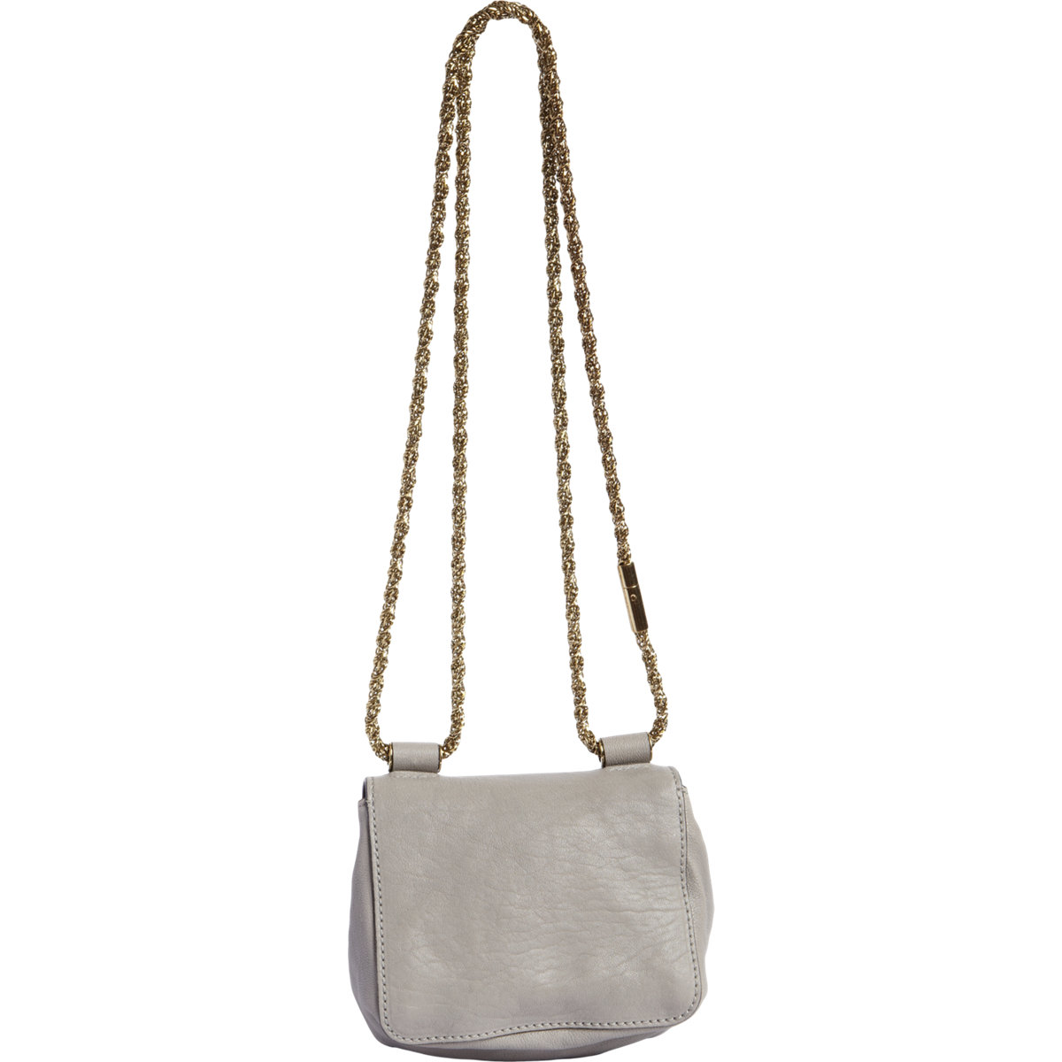 Chlo�� Snakeskin Mini Elsie Bag in Gray (gold) | Lyst