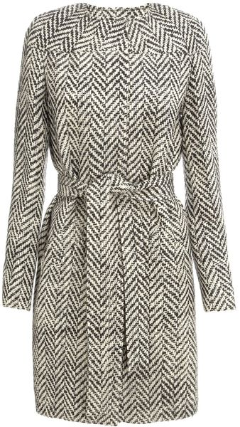 Commuun Herringbone Wool Coat - Lyst