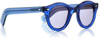 Cutler & Gross Blue Small Round Wayfarers - Lyst