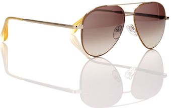 Cutler & Gross Cumin Piping Gold Wire Aviators - Lyst