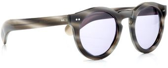 Cutler & Gross Dappled Grey Round Wayfarers - Lyst