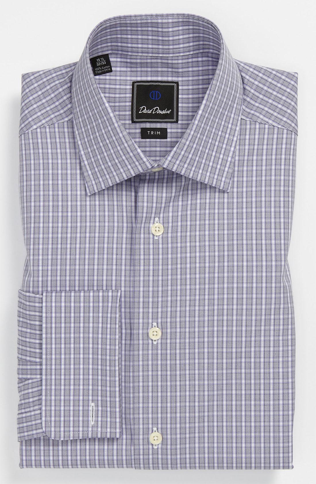 David Donahue Trim Fit Dress Shirt In Purple For Men Lyst