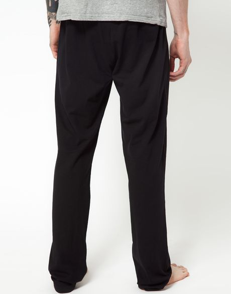 Diesel Jersey Lounge Pants In Black For Men Lyst