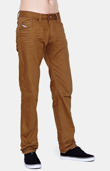 Diesel  Slim Fit Color Jeans in Brown for Men (tan) - Lyst