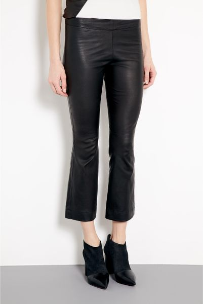 Elizabeth And James Allen Stretch Leather Kick Trousers in Black - Lyst