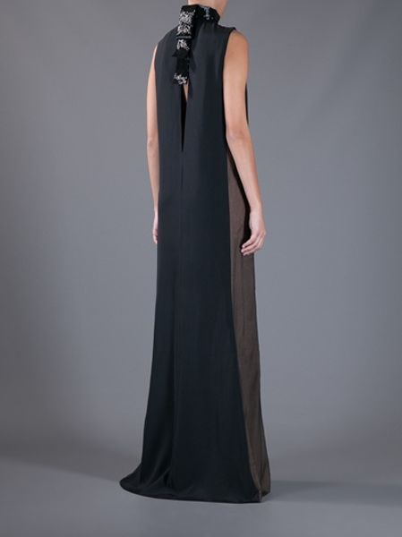 Emilio Pucci Sleeveless Evening Dress in Black