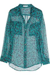 Equipment Signature Leopardprint Silkchiffon Shirt - Lyst