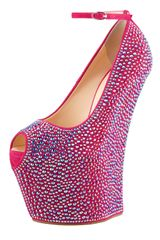 Giuseppe Zanotti Crystalcovered Exaggerated Wedge Platform Pump - Lyst