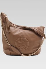 Gucci Soho Leather Chainstrap Shoulder Bag Brown - Lyst