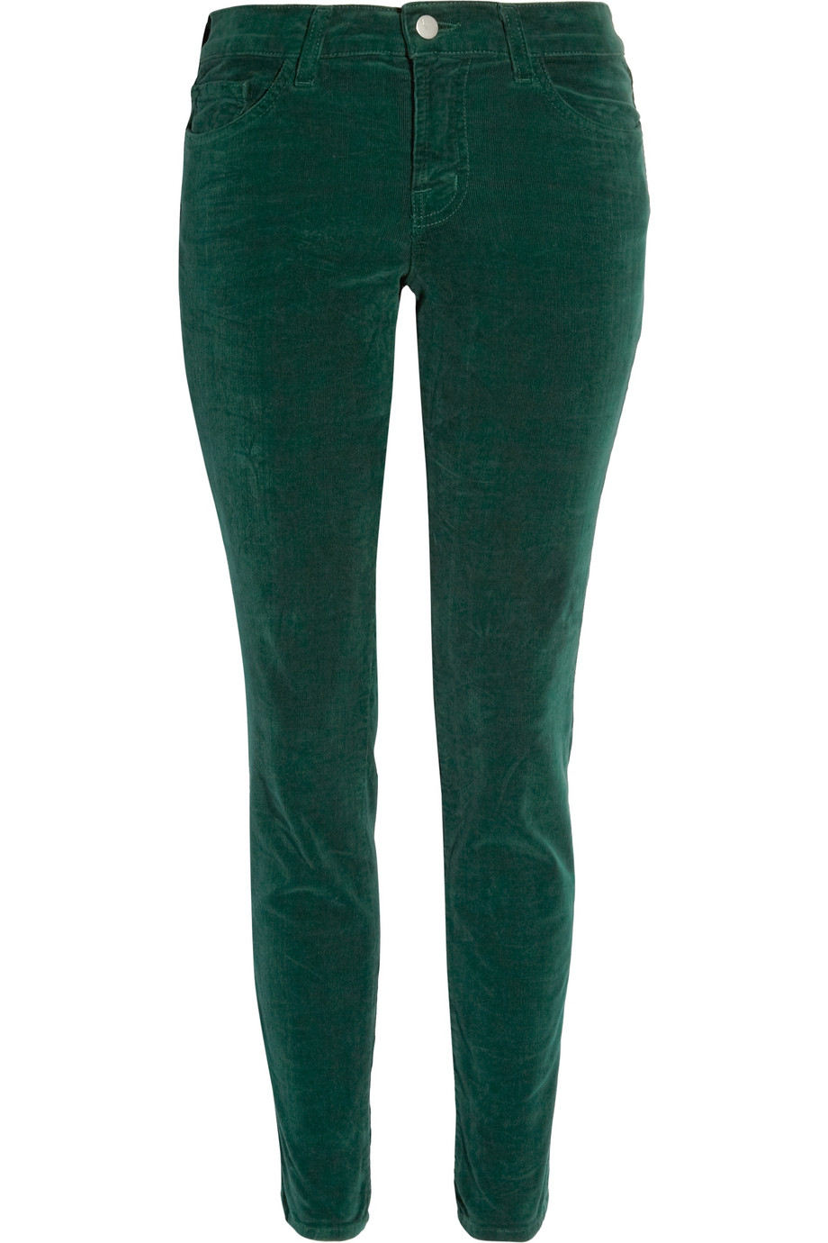 J brand Mid-rise Corduroy Skinny Jeans in Green | Lyst