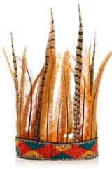 Littledoe Orange Short Feather Headress - Lyst