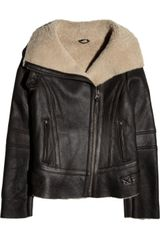 Mackage Shearling Biker Jacket - Lyst