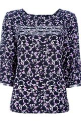 Marc By Marc Jacobs Floral Silk Blouse - Lyst