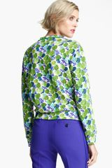 Marc Jacobs Floral Print Sweatshirt in Green (pink multi) - Lyst