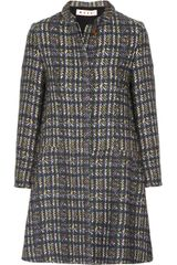 Marni Printed Wool Blend Coat - Lyst