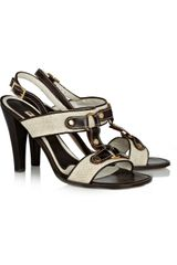 Marni Canvascovered Leather Sandals - Lyst