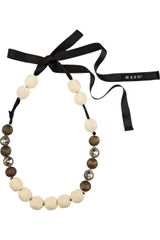 Marni Swarovski Embellished Bead Necklace - Lyst