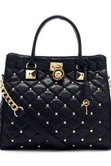Michael by Michael Kors Large Hamilton Studded Quilted Tote Bag - Lyst