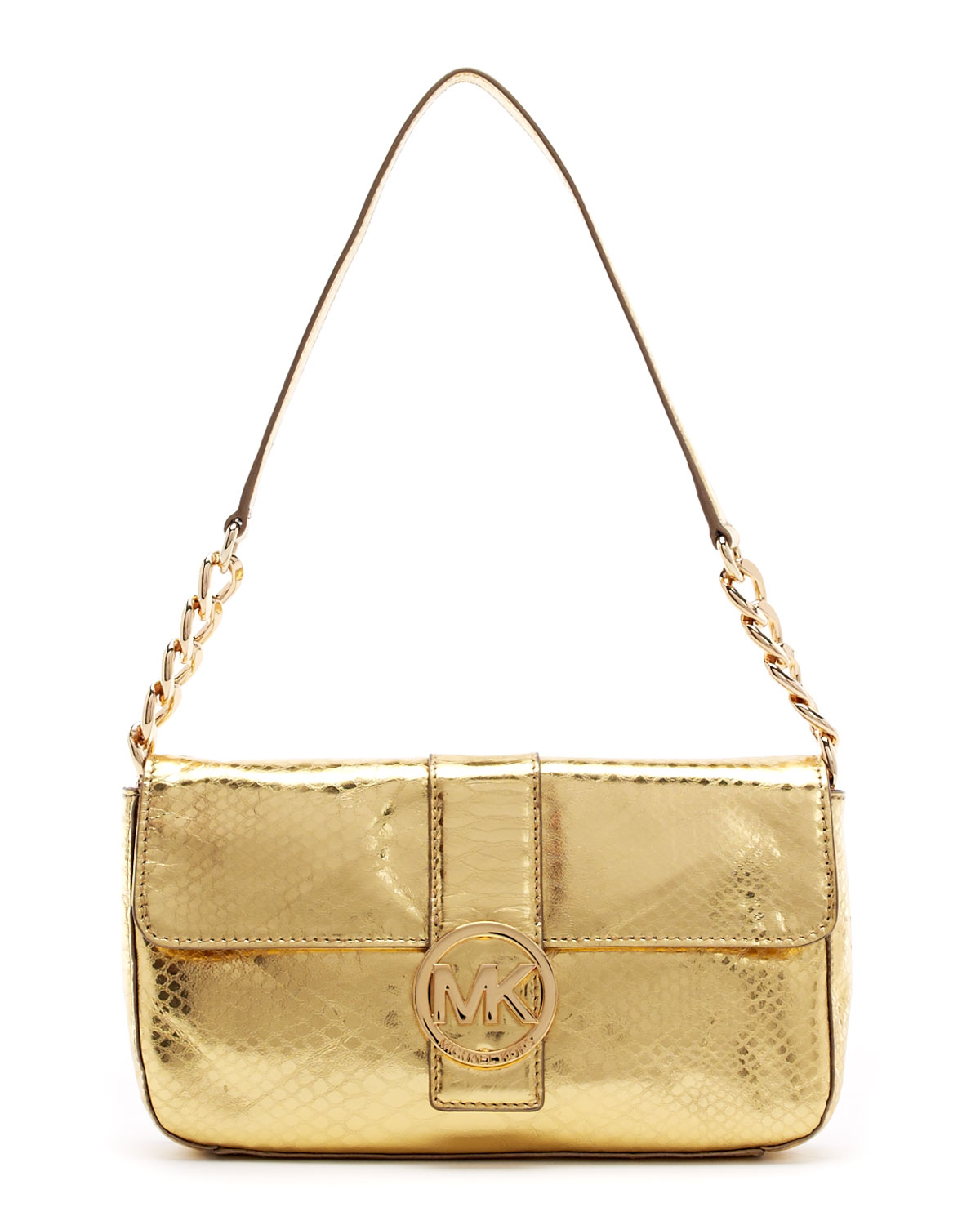 03e6ee0e632e ... norway lyst michael michael kors fulton pythonembossed small flap bag  in 88d10 d16b0