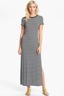 Michael by Michael Kors Stripe Crewneck Maxi Dress - Lyst