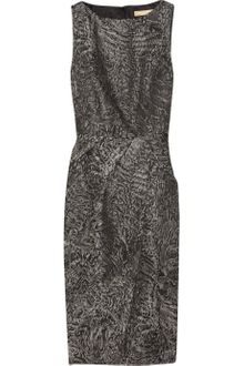 Michael Kors Woolblend Brocade Dress - Lyst