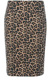 Michael Kors Leopard Print Pencil Skirt - Lyst