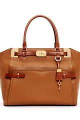 Michael Kors Blake Large Pebbled Leather Satchel Bag - Lyst