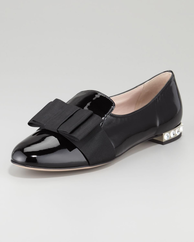 Miu Miu Bow Flat Shoes