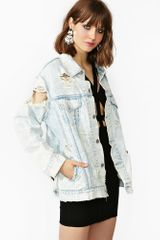 Nasty Gal In The Rough Denim Jacket - Lyst