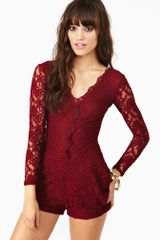 Nasty Gal Juliet Lace Romper