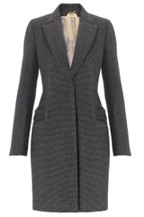 No.21 Grey Houndstooth Neoprene Coat - Lyst
