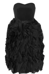 Notte By Marchesa Ruffled Strapless Silk Dress - Lyst