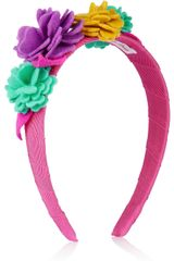 Olympia Le-Tan Grosgrain and Felt Flower Headband - Lyst
