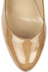Oscar De La Renta Twotone Patentleather Pumps in Beige (sand) - Lyst