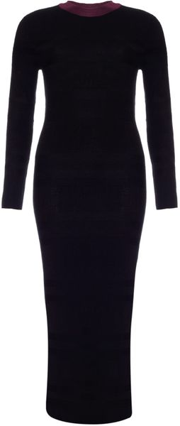 Paper London Black Mix Mandy Jumper Dress - Lyst