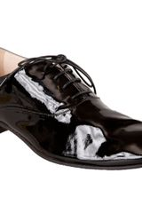 Prada Round Toe Oxford - Lyst