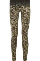 Preen Line Leopardprint Stretchdenim Pants - Lyst