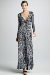 Rachel Pally Print Wrapped Maxi Dress Womens - Lyst