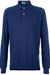 Ralph Lauren Blue Label Long Sleeve Polo Shirt - Lyst