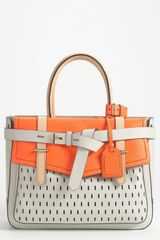 Reed Krakoff Boxer Perforated Leather Satchel - Lyst