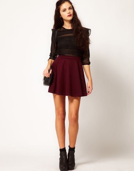 Buy Lavand Women's Red Knitted Skater Skirt In Burgundy. Similar products also available. SALE now on!