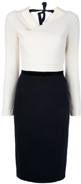 Roland Mouret Double Crepe Angel Dress - Lyst