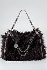 Stella McCartney Falabella Furry Foldover Tote Bag - Lyst