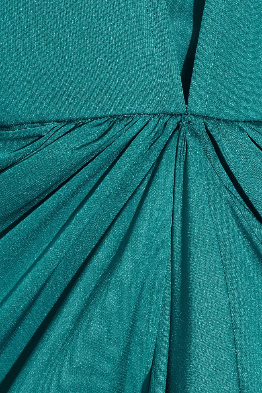 Temperley London Venus Waterfall Silk Gown In Blue Lyst